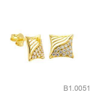 Bông Tai Vàng 18k Đính Đá Cz - B1.0051