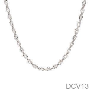 Dây Chuyền Vàng Trắng 10k – DCV13