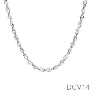 DCV14 - Dây chuyền nữ vàng trắng 10k