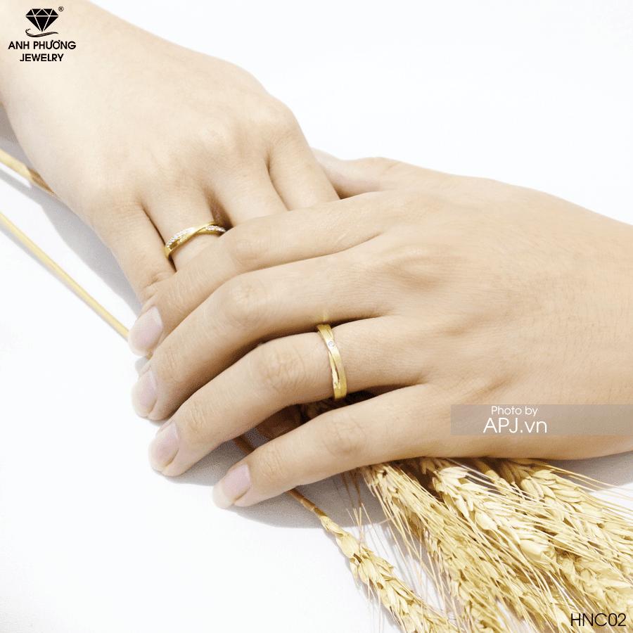 HNC02 Nhẫn cưới đơn giản trơn