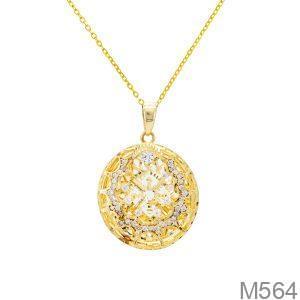 Mặt Dây Nữ Vàng 18K Đính Đá Cz - M564