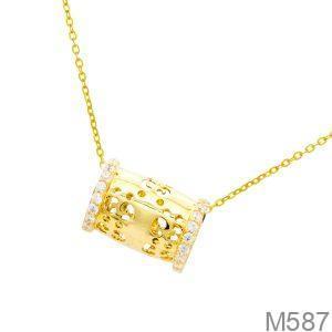 Mặt Dây Nữ Vàng 18K Đính Đá Cz - M587