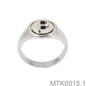 Nhẫn Nam Chữ P Vàng Trắng 18k – MTK0015.1