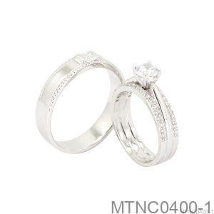 Nhẫn Cưới Bạch Kim Platinum - MTNC0400-1