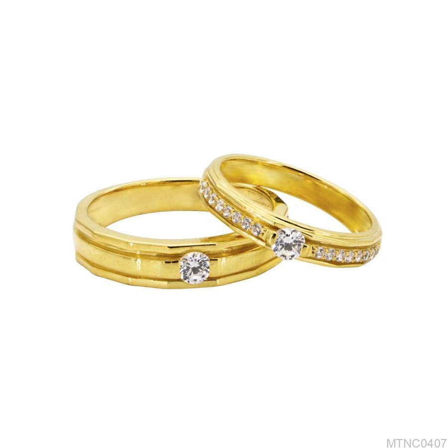 MTNC0407-2 Nhẫn cưới đẹp vàng 18k