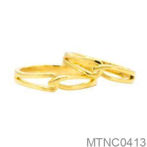Nhẫn Cưới Vàng Vàng 18K Đính Đá Cz- MTNC0413