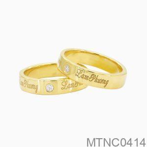 Nhẫn Cưới Vàng Vàng 18k Đính Đá Cz - MTNC0414