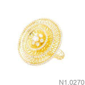Nhẫn Nữ Vàng 18k Đính Đá Cz - N1.0270