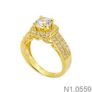 Nhẫn Nữ Vàng 18k Đính Đá Cz - N1.0559