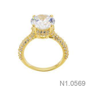 Nhẫn Nữ Vàng 18k Đính Đá Cz - N1.0569
