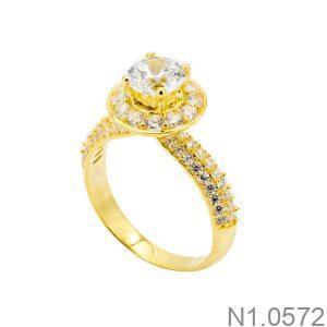 Nhẫn Nữ Vàng 18k Đính Đá Cz - N1.0572
