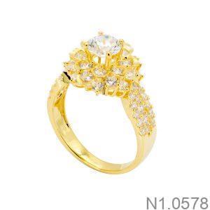 Nhẫn Nữ Vàng 18k Đính Đá Cz - N1.0578