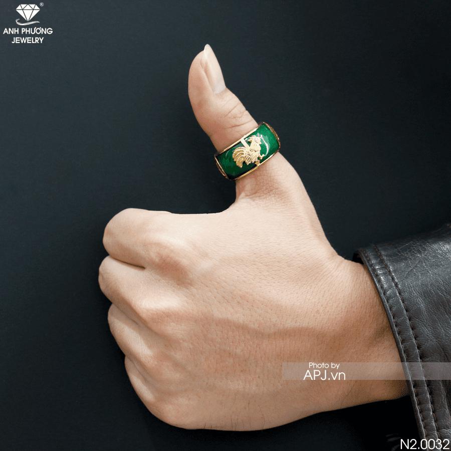 Nhẫn nam đẹp hấp dẫn phong thủy mệnh Kim N2.0032