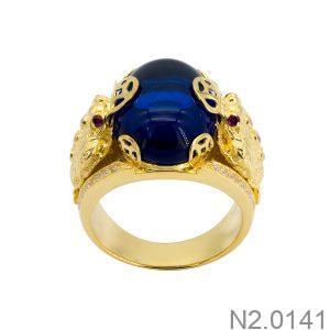 Nhẫn Nam Vàng 18k Đính Đá Cz – N2.0141