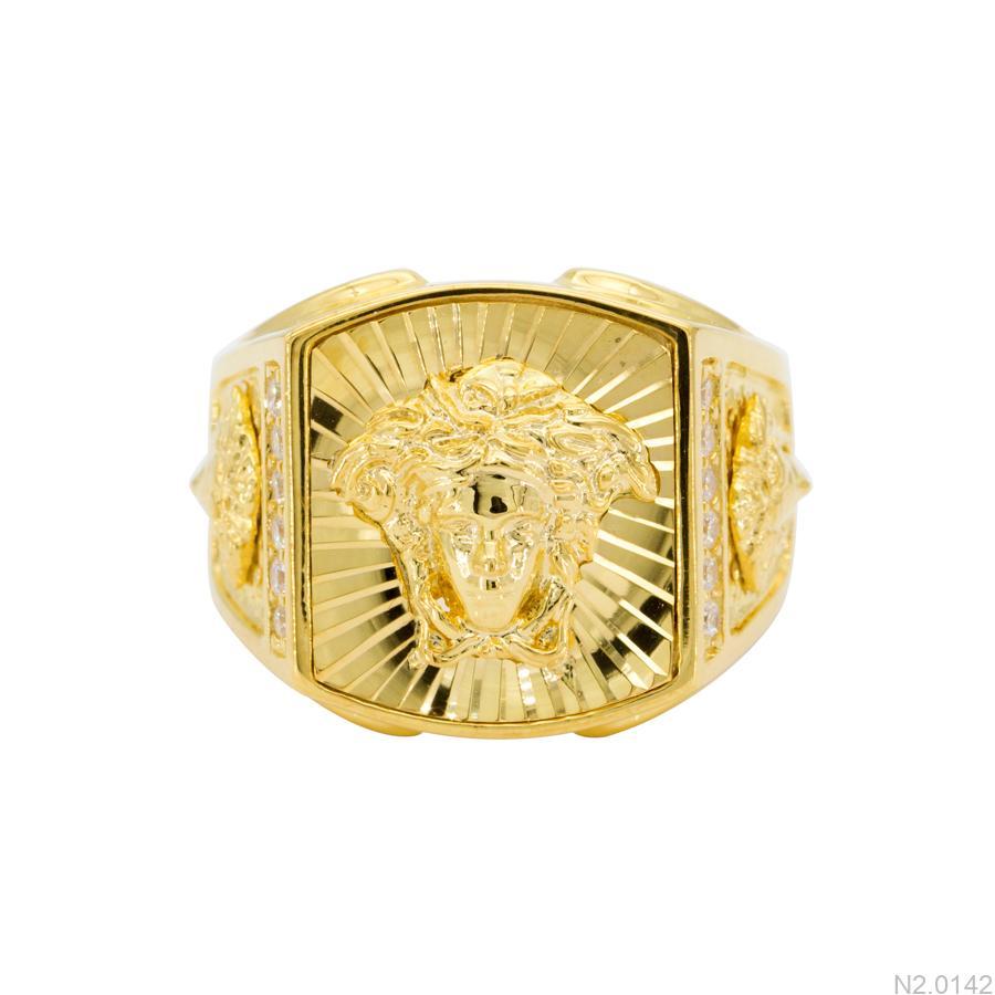 N2.0142-1 Nhẫn nam vàng vàng 18k Versace