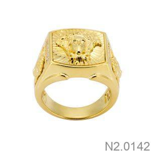 Nhẫn Nam Vàng 18k Đính Đá Cz – N2.0142
