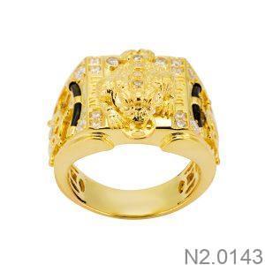 Nhẫn Nam Vàng 18k Đính Đá Cz – N2.0143