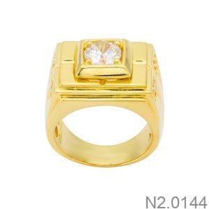 Nhẫn Nam Vàng 18k Đính Đá Cz – N2.0144