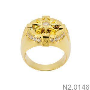 Nhẫn Nam Vàng 18k Đính Đá Cz – N2.0146