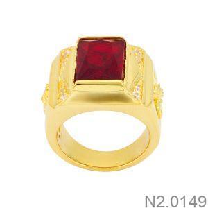 Nhẫn Nam Vàng 18k Đính Đá Cz – N2.0149