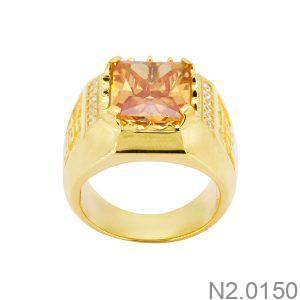 Nhẫn Nam Vàng 18k Đính Đá Cz – N2.0150