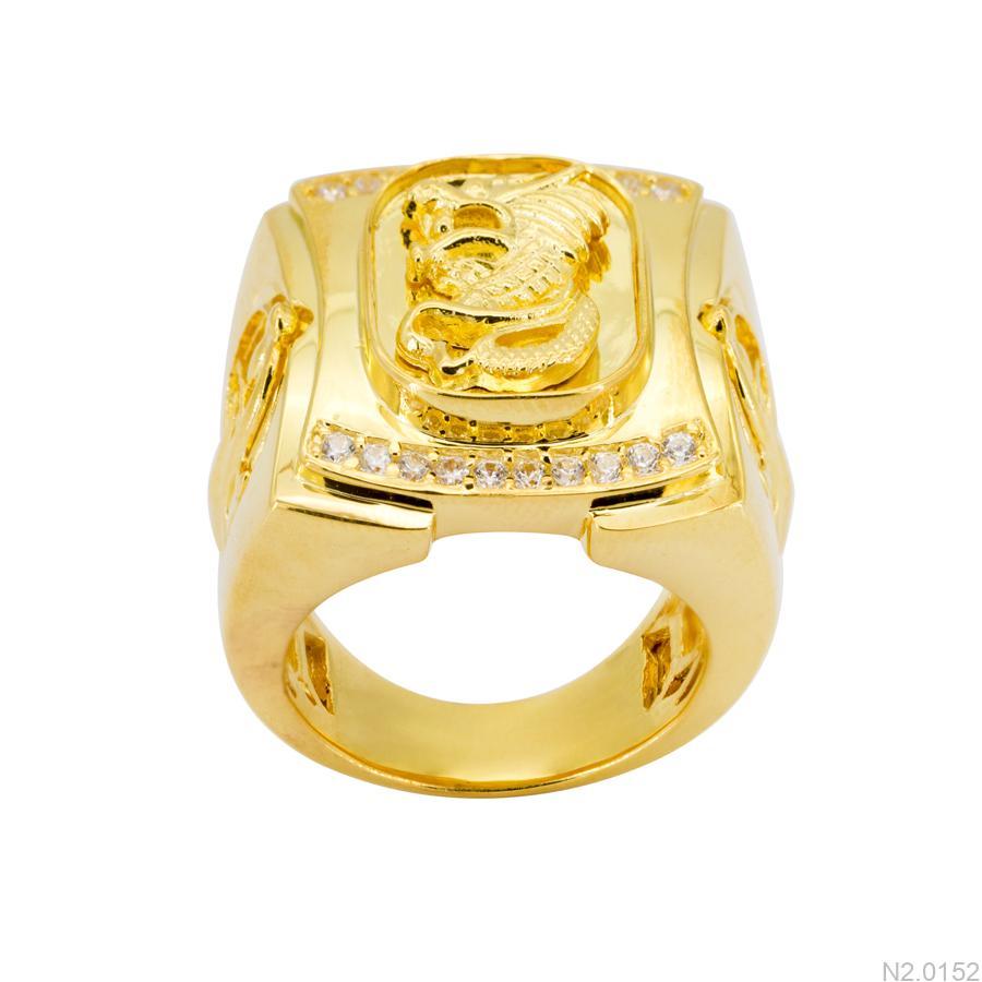 Nhẫn Nam Vàng 18k Đính Đá Cz – N2.0152