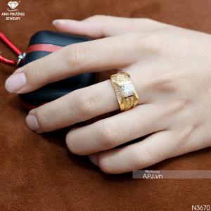 Nhẫn Nam Vàng 10K Đính Đá CZ - N3670