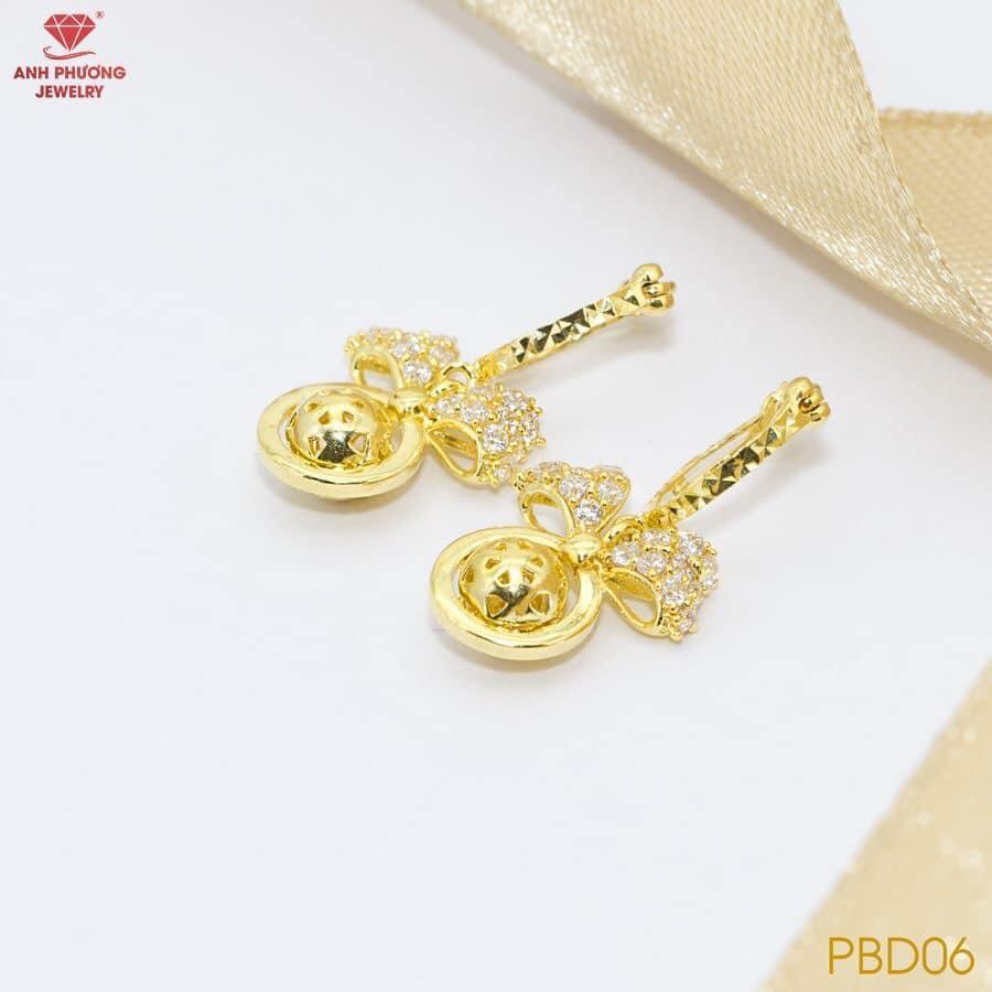 PBD06 - Bông tai nữ vàng vàng 18k