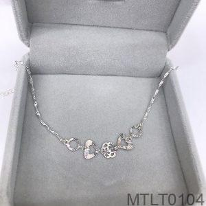 Lắc Tay Vàng Trắng 10K - MTLT0104