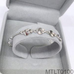Lắc Tay Vàng Trắng 10K - MTLT0100