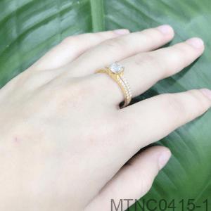 Nhẫn Nữ Vàng 18k Đính Đá Cz - MTNC0415-1