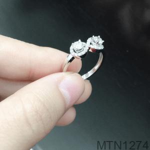 Nhẫn Nữ Vàng Trắng 10k Đính Đá Cz - MTN1274