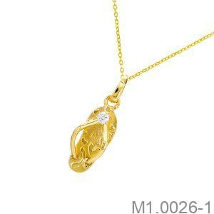 Mặt Dây Nữ Vàng Vàng 18K - M1.0026-1