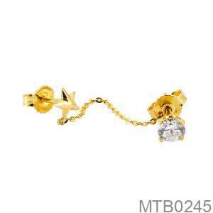 Bông Tai Vàng Vàng 10K Đính Đá CZ - MTB0245