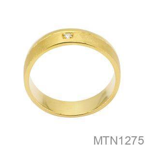 Nhẫn Nam Vàng Vàng 18K Đá Trắng - MTN1275