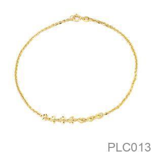 Lắc Chân Vàng Vàng 18K - PLC013