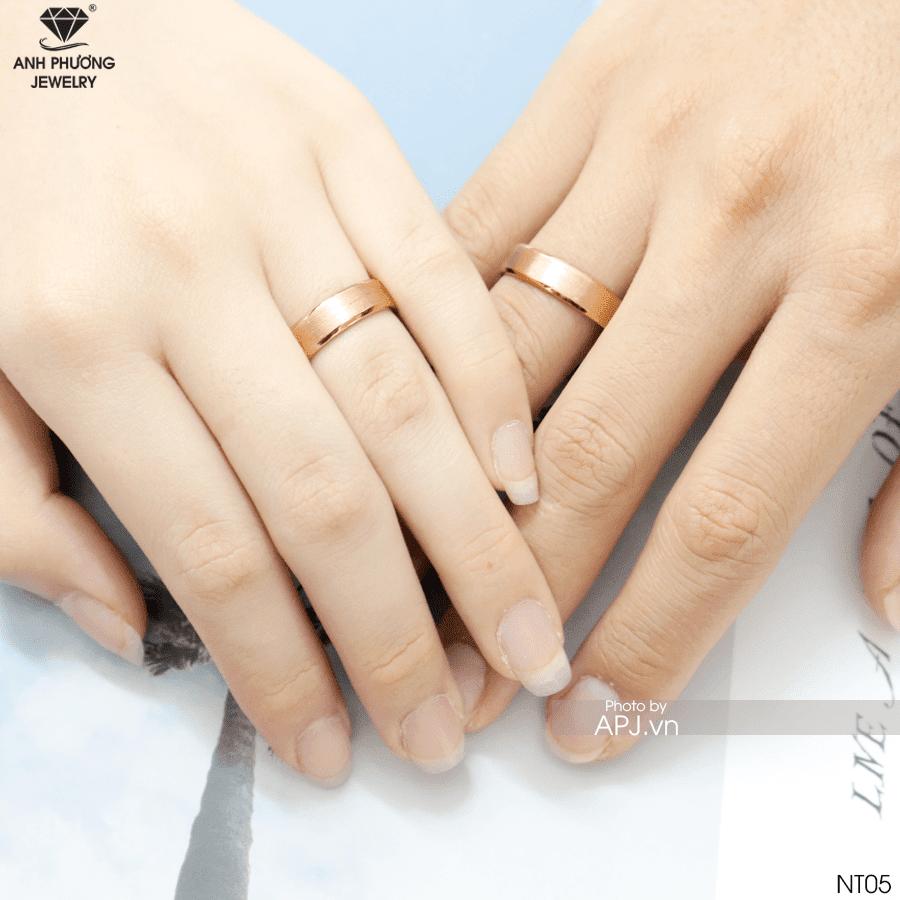 NT05 Nhẫn cưới vàng hồng bạn nên chọn