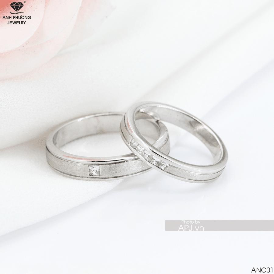 Chọn nhẫn cưới vàng trắng anc01