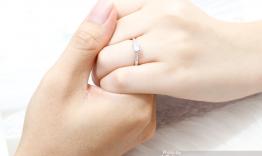 n1.0075 Nhẫn cầu hôn vàng trắng đẹp