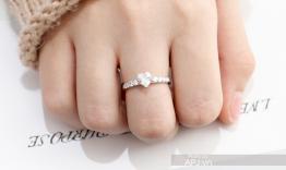 N1.0113 Nhẫn đính hôn vàng trắng đep
