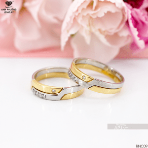 RNC09 nhẫn cưới 2 màu đẹp tại APJ