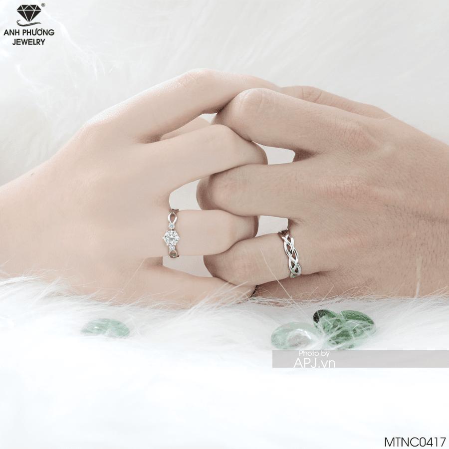 Nhẫn cưới vàng trăng MTNC0417 thiết kế riêng