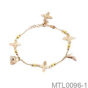 Lắc Tay Vàng Hồng 18k Đính Đá Cz - MTL0096-1