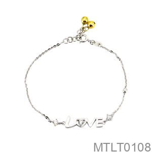 Lắc Tay Vàng Trắng 10k - MTLT0108