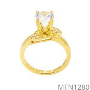 Nhẫn Nữ Vàng Vàng 18K Đính Đá Cz - MTN1280