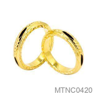 Nhẫn Cưới Vàng Vàng 18K Đính Đá Cz - MTNC0420
