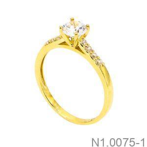 Nhẫn Nữ Vàng Vàng 18K Đính Đá Cz - N1.0075
