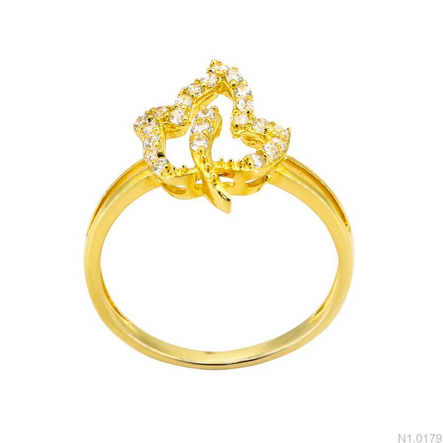 Nhẫn Nữ Vàng Vàng 18k Đính Đá Cz - N1.0179