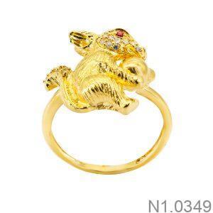 Nhẫn Nữ Vàng Vàng 18k Đính Đá Cz - N1.0349