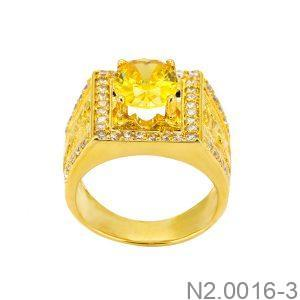 Nhẫn Nam Vàng Vàng 18K Đính Đá CZ - N2.0016-3